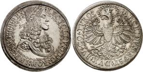 Тироль. Двойной талер без указания даты (1680 года) императора Леопольда