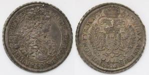 Талер 1717 года. Император Карл VI. Австрия. Монетный двор города Вена