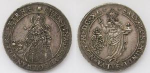 Швеция. Талер 1640 года. Королева Кристина